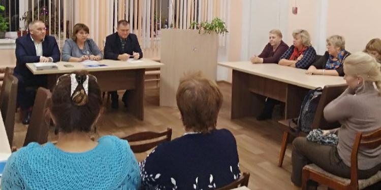 Встреча с главой Приморского района в МО «Заостровское»